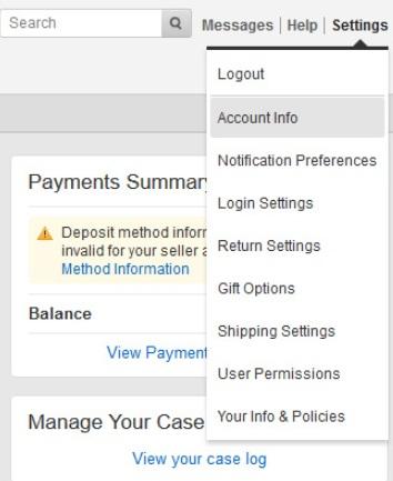Account info на Amazon