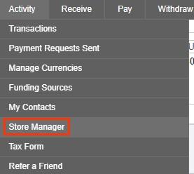 Менеджер магазинов в системе Payoneer