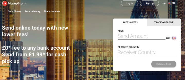 MoneyGram главная страница