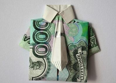 оригинальный презент из денег