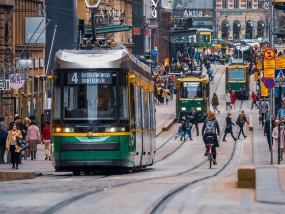 Хельсинки трамваи