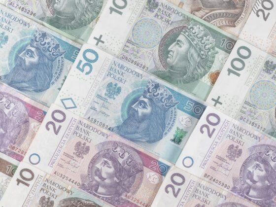Злотые банкноты