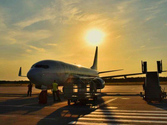 самолет перед отлетом